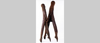 Title: TQ27.271-787.uk. H Gallery, London. Wood sculpture. 1993 Michael Winstone